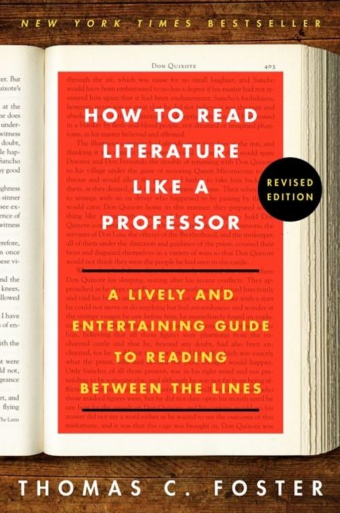 Thomas C. Foster, How to Read Literature Like a Professor, éd. de 2014, couverture