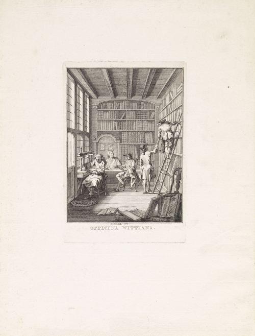 «Officina Wittiana», gravure de Reinier Vinkeles, Amsterdam, 1763
