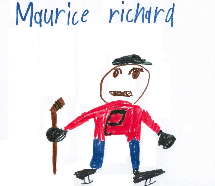 Maurice Richard, dessin de Théo Malo Melançon