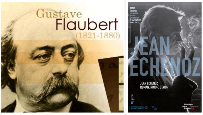 Gustave Flaubert et Jean Echenoz, collage