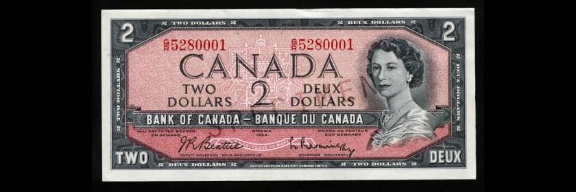 Billet de deux dollars canadiens
