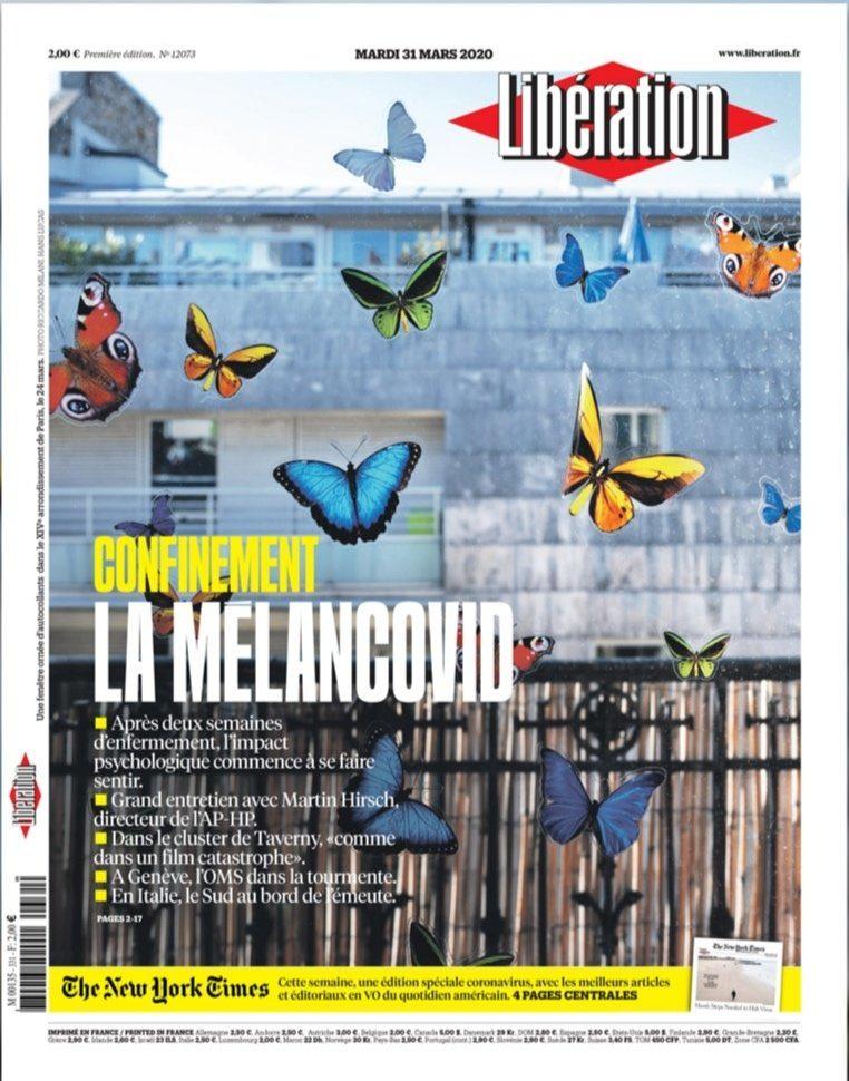 Libération, 30 mars 2020, une