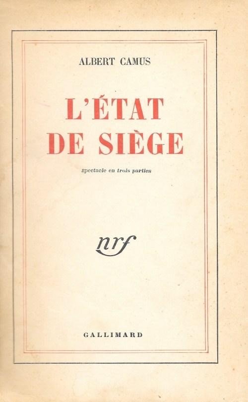 Albert Camus, l'État de siège, éd. 1960, couverture