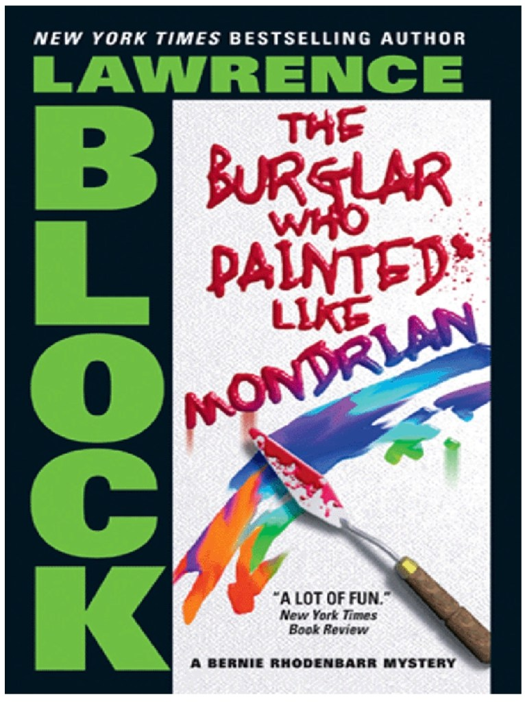 Lawrence Block, The Burglar Who Painted Like Mondrian, 1983, couverture