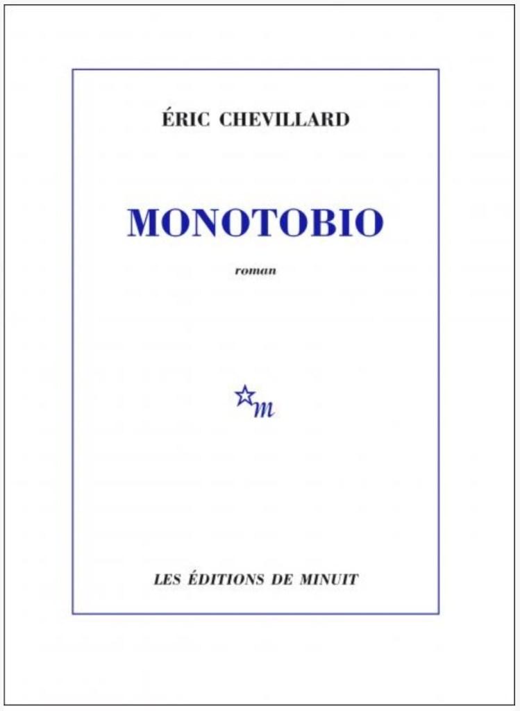 Éric Chevillard, Monotobio, 2020, couverture