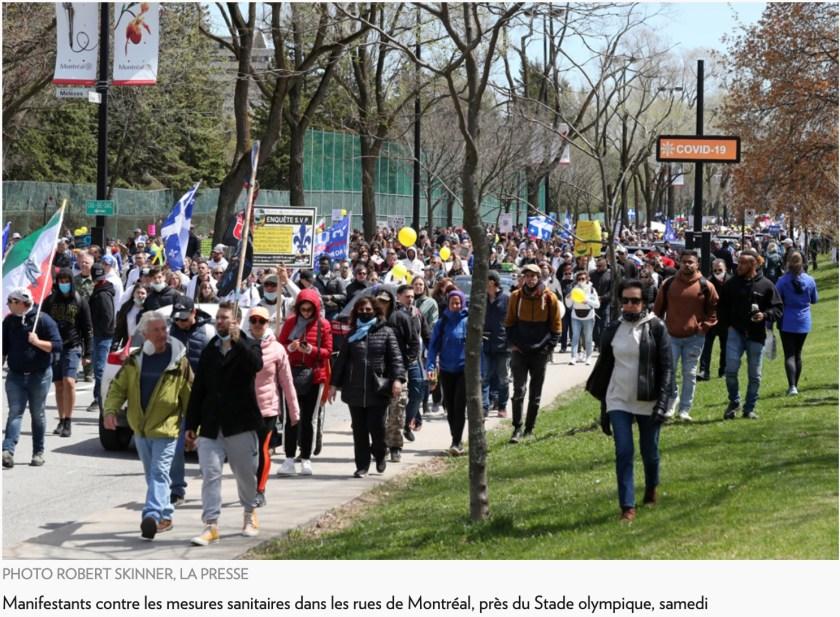 Manifestation, Montréal, mai 2021