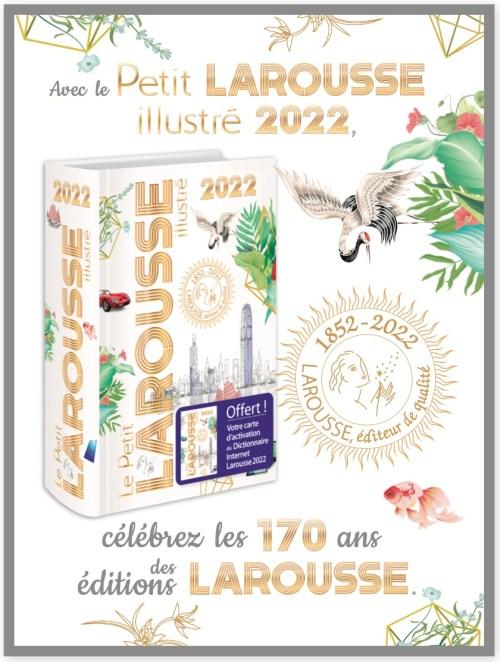 Petit Larousse illustré 2022, publicité