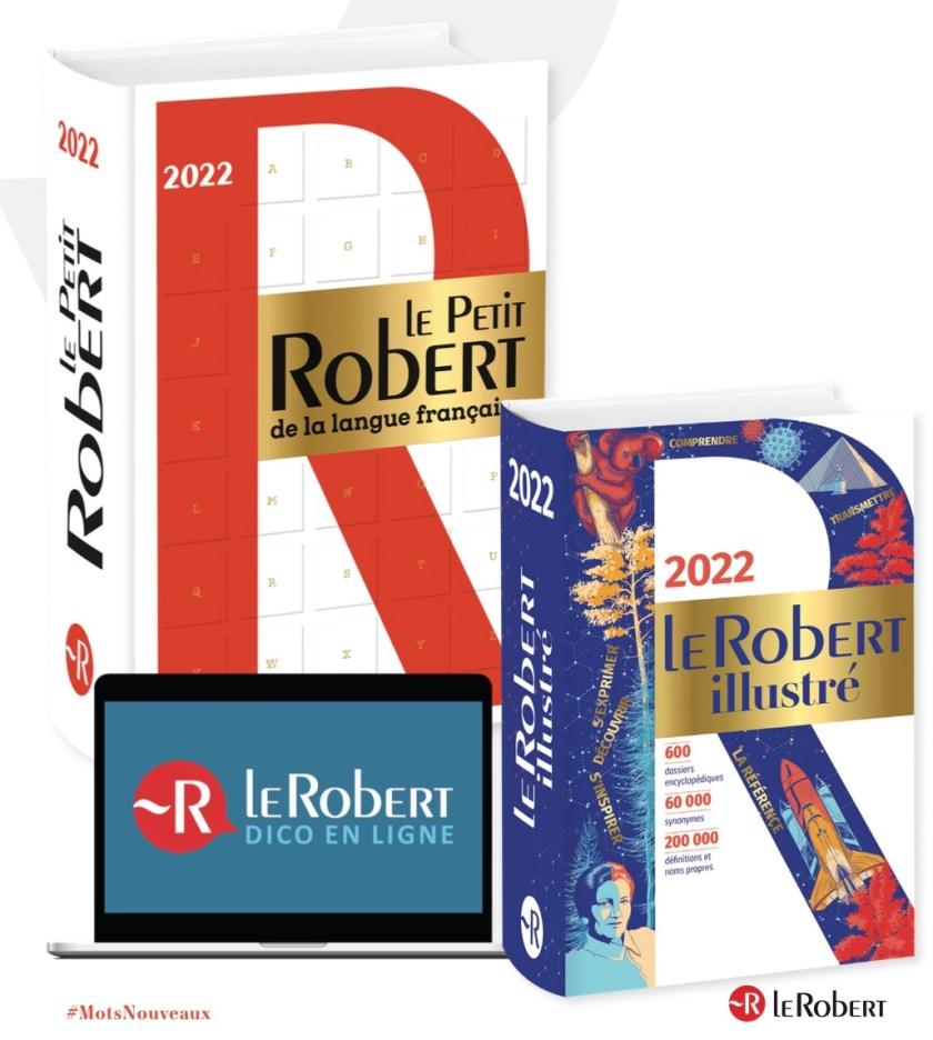 Dictionnaires Le Robert, 2022, couvertures