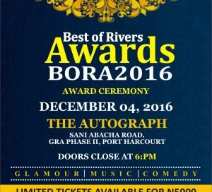 BORA 2016 : BEST OF RIVERS AWARDS