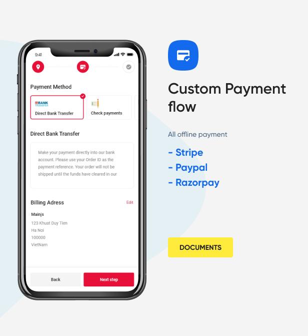 Custom Payment flow