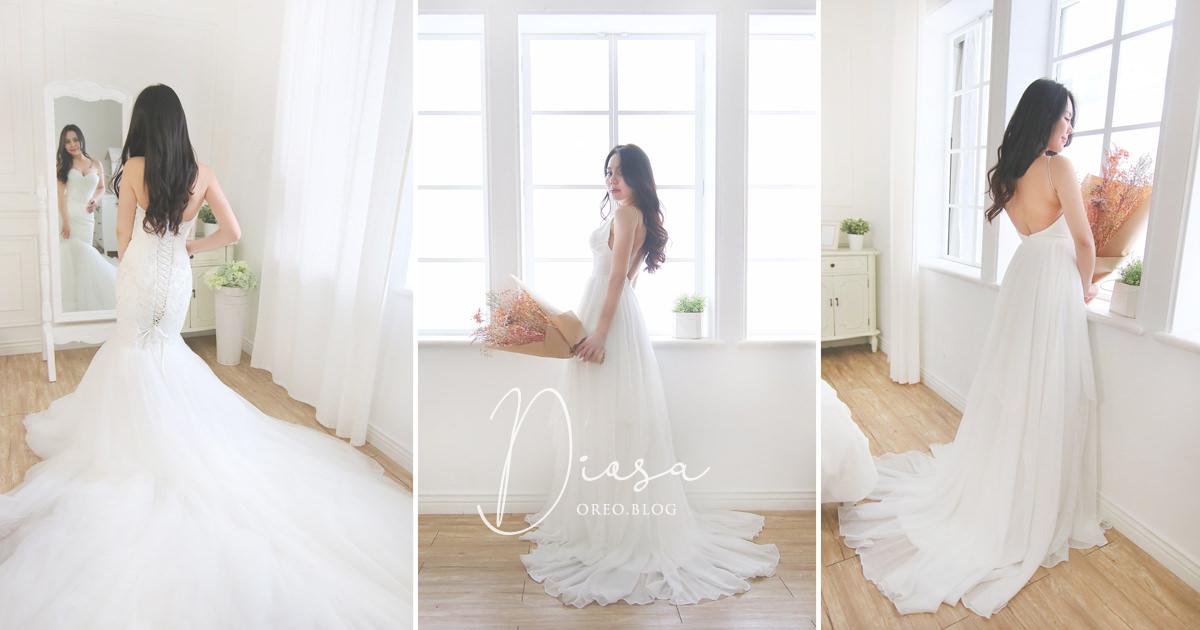 台北Diosa手工婚紗 陪同姊妹試穿婚紗紀錄&租旅行輕婚紗出國拍照方案~