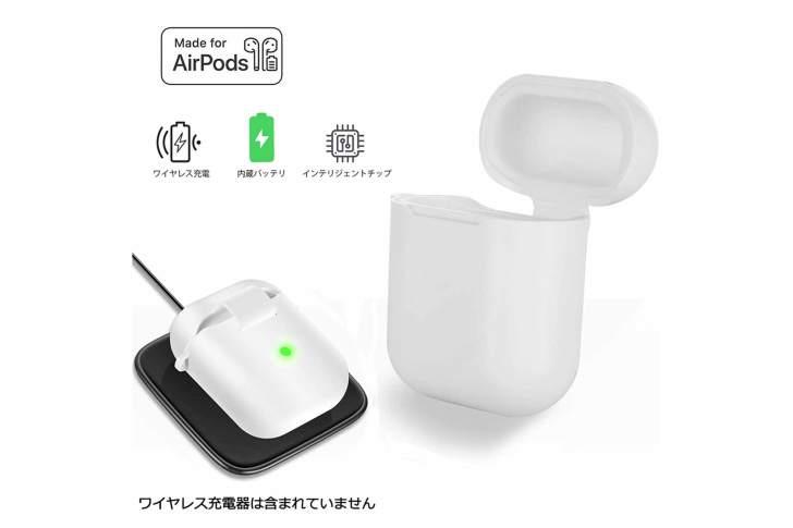 IFEND AirPodsケース ワイヤレス充電ケース ショックプルーフ