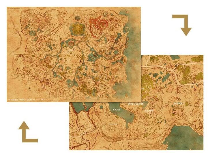 ゼルダの伝説 全体マップの写真