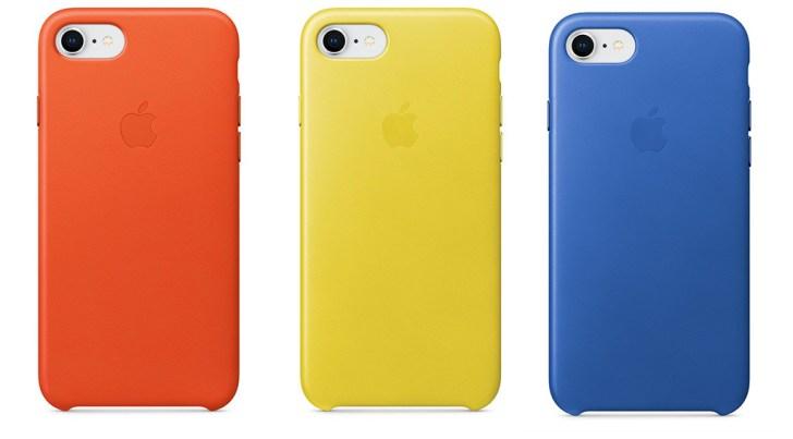 iPhone8 8PlusのApple純正レザーケースの新色3種類の写真