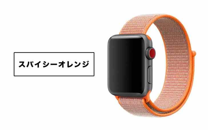 AppleWatchスパイシーオレンジスポーツループの画像
