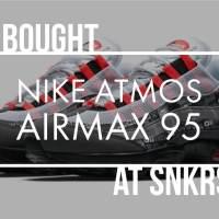 NIKE SNKRSで人気のスニーカーを買うコツ!AirMax95 赤を購入した!ちょっとした攻略法と備忘録。