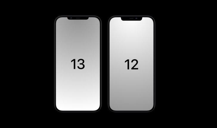iPhone 13ではより小さなノッチに変わる!リーク画像あり。
