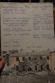 A menu from 1980! Long before my birth, but it features some recipes I have made on this course, like French Peasant Soup.