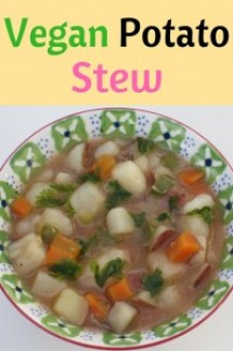 A vegan potato stew with a protein option for your meat lover and your picky eater? Count me in!
