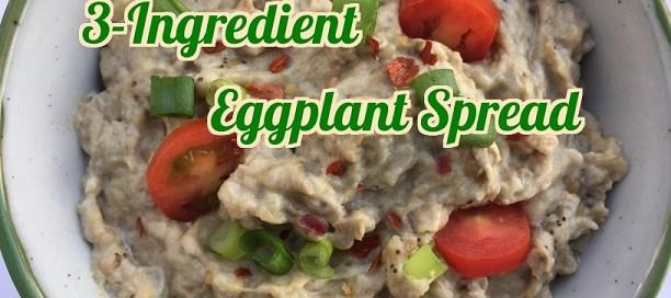 3-Ingredient eggplant spread - quick and delicious.