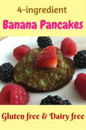 These pancakes are easy pancakes to make and even your picky eater will love. Kids of all ages will actually enjoy these healthy banana pancakes.