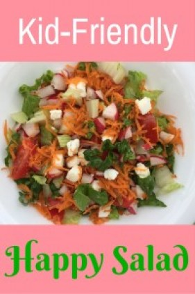 If you are looking for a salad that kids like, this is it. Look no further. Easy to make, healthy, and kid-friendly. Yum!