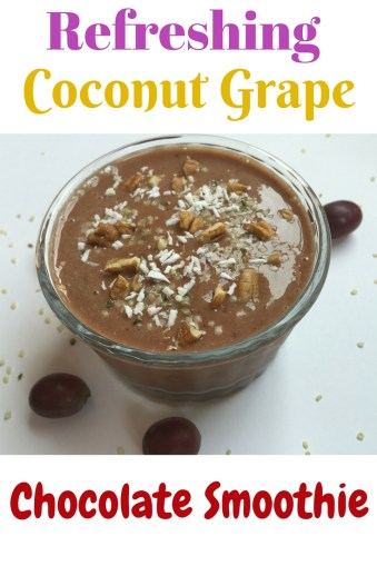This refreshing coconut grape smoothie is so yummy  that you will drink it in one second, without realizing that is also healthy :).