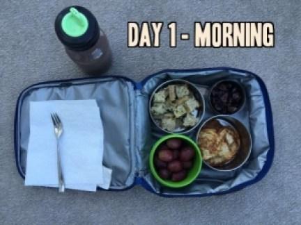 School lunch day 1 morning