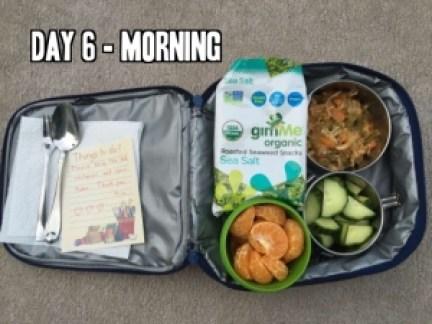 Day 6 school lunch idea