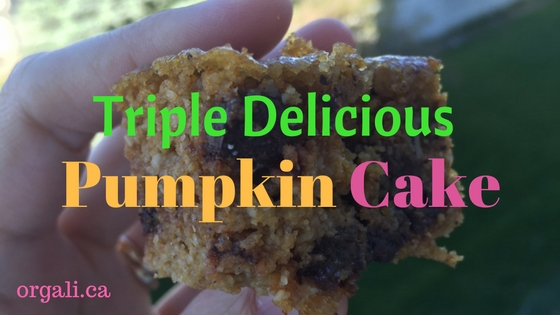 Triple delicious pumpkin cake