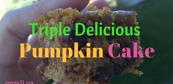 Triple delicious pumpkin cake