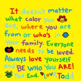Be Who You Are Execerpt from Todd Parr's latest book