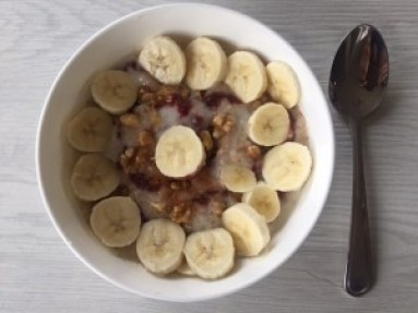 Delicious porridge for breakfast