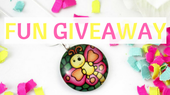 Fun giveaway glass pendant