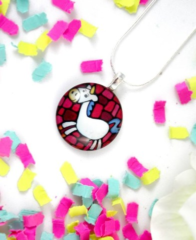Kathy Lycka unicorn pendant