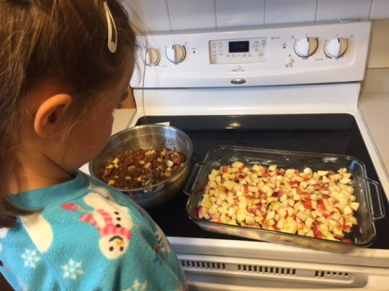 Learning how to cook apple crisp