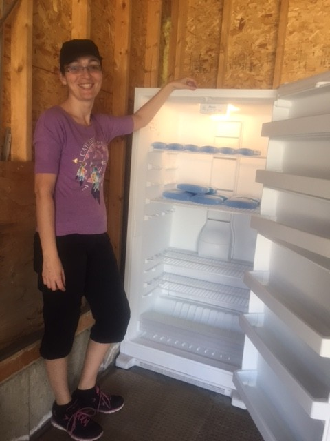 Empty freezer. No Orgali Foods yet.