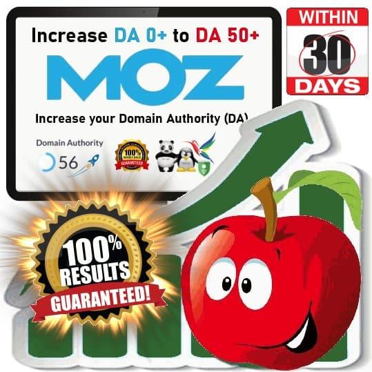 Increase Domain Authority 0+ to DA 50+