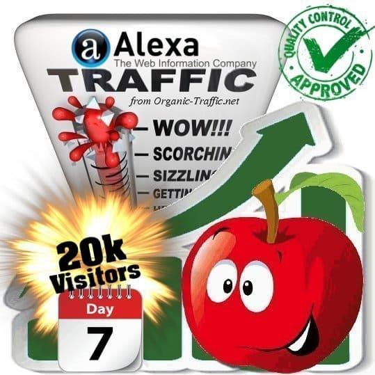 alexa search traffic visitors 7days 20k