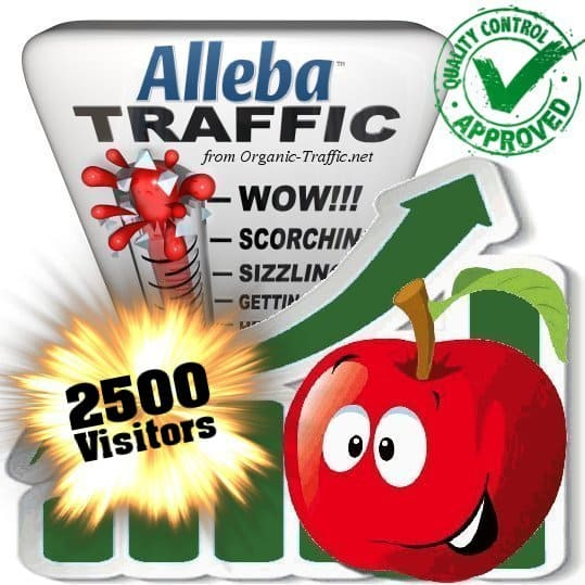 alleba search traffic visitors 2500