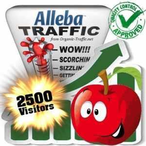 alleba search traffic visitors 2500