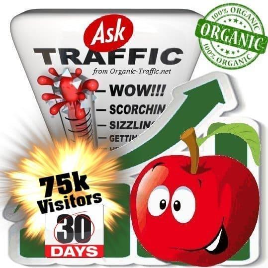 ask organic traffic visitors 30days 75k