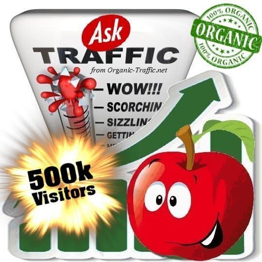 ask organic traffic visitors