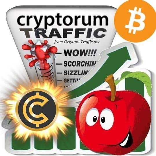 Buy Cryptorum.com Webtraffic