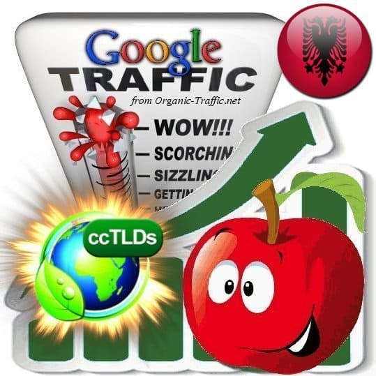 buy google albania organic traffic visitors