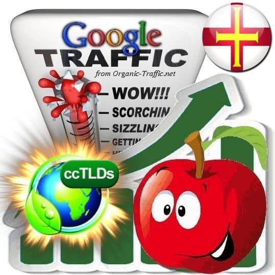 buy google guernsey organic traffic visitors