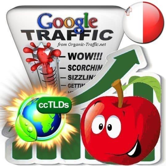 buy google malta organic traffic visitors