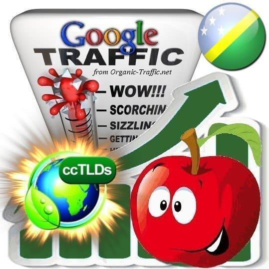 buy google solomon islands organic traffic visitors