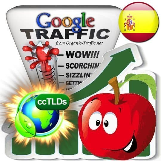 buy google spain organic traffic visitors