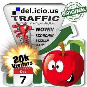 buy 20.000 delicious social traffic visitors in 7 days